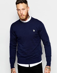 Paul Smith Jeans Jumper With Zebra Logo In Crew Neck Navy