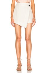 Raquel Allegra Wrap Skirt In White
