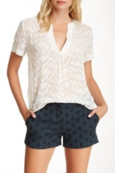 Zoa V Placket Blouse White