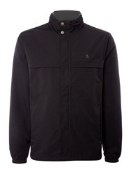 Original Penguin Concealed Hooded Lightweight Coat Black