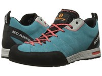 Scarpa Gecko Ice Fall Coral Red Women's Shoes Blue