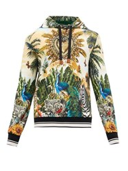 Dolce And Gabbana Tropical Latino Print Cotton Hooded Sweatshirt Multi