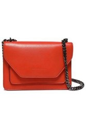 Elena Ghisellini Woman Color Block Leather Shoulder Bag Papaya