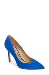 Sam Edelman Women's Hazel Pointy Toe Pump Bright Blue Suede