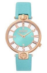 Versus By Versace Kristenhof Leather Strap Watch 34Mm Green Rose Gold