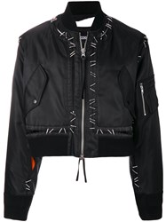 Ktz Metal Pin Bomber Jacket Black