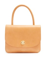 Mansur Gavriel Metropolitan Leather Top Handle Bag Light Tan