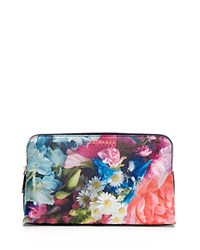 Ted Baker Lileen Focus Bouquet Extra Large Cosmetic Case Blue