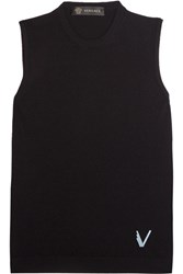 Versace Stretch Knit Tank Black