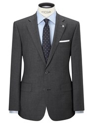 Chester Barrie By Semi Plain Wool Tailored Suit Jacket Grey