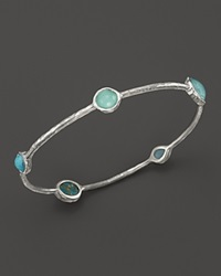 Ippolita Rock Candy Sterling Silver Wonderland 5 Stone Bangle Blue