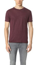 Todd Snyder Linen Jersey Button Pocket Tee Merlot