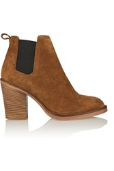 Maje Suede Boots Brown