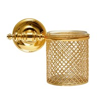 Villari Firenze Wall Toothbrush Holder Full Antique Gold