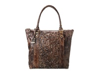 Frye Deborah Zip Tote Chocolate Glazed Vintage Leather Tote Handbags Bronze