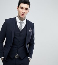 Heart And Dagger Skinny Suit Jacket Navy