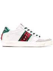 Leather Crown Low Top Stud Sneakers White