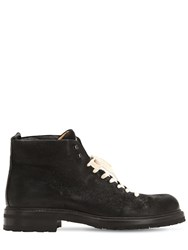 Alberto Fasciani Lace Up Leather Ankle Boots Black