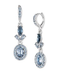 Givenchy Camille Imitation Rhodium Plated Double Drop Earrings Silver
