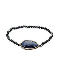 Adornia Sapphire And Diamond Teardrop Bracelet Black