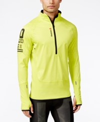 Reebok Men's Hexawarm Half Zip Jacket Yellow
