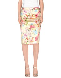 Frankie Morello Skirts Knee Length Skirts Women Light Yellow