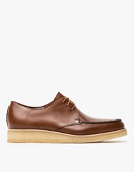 Clarks Burcott Field In Cognac Leather
