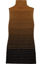 Missoni Crochet Knit Turtleneck Tank