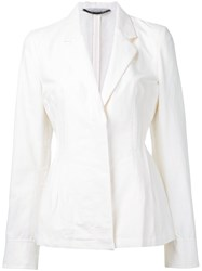 Stella Mccartney Tailored Blazer Women Cotton Linen Flax Polyamide 44 White
