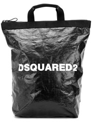 Dsquared2 Logo Printed Backpack Black