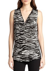 The Kooples Jersey Back Zebra Print Silk Tank