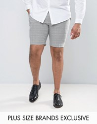 Heart And Dagger Plus Smart Shorts In Summer Dogstooth Black White Grey