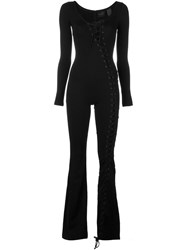 Puma Lace Up Jumpsuit Black