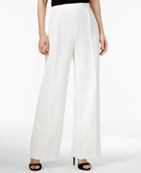 Bar Iii Wide Leg Suit Pants Only At Macy's Washed White
