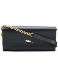 Longchamp Chain Strap Clutch Black