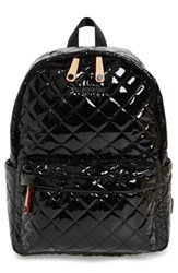 M Z Wallace Mz 'Small Metro' Quilted Oxford Nylon Backpack Black Black Lacquer