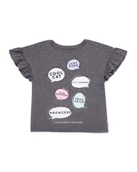 Kate Spade Speech Bubbles Graphic Tee Gray