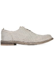Officine Creative Woven Lace Up Shoes Grey