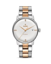 Rado Coupole Classic Watch With Diamonds 38Mm White Rose