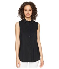 Lysse June Button Down Sleeveless Top Black Clothing