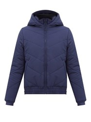 Lndr Hooded Technical Quilted Shell Jacket Navy