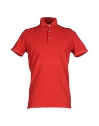 Alpha Studio Topwear Polo Shirts Men Red