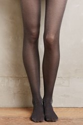 Anthropologie Glimmered Tights Dark Grey