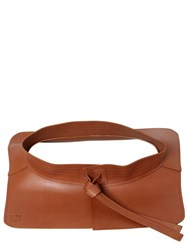 Loewe High Waist Leather Belt Brown