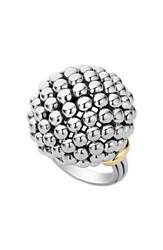 Lagos Women's 'Caviar Forever' Large Dome Ring Silver Gold