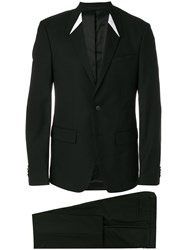 Givenchy Single Breasted Suit Cotton Polyamide Acetate Wool Black