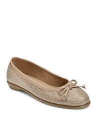 Aerosoles Fast Bet Leather Ballet Flats Champagne