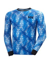 Helly Hansen Active Flow Graphic Baselayer Tee Racer Blue