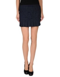 Daniele Alessandrini Mini Skirts Dark Blue