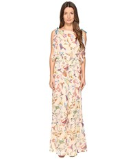 Red Valentino Hummingbird Print Silk Creponne Jumpsuit Soya Women's Jumpsuit And Rompers One Piece Orange